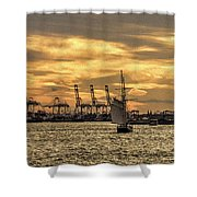 Liberty Sailing  Shower Curtain