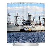 Liberty Ship  Shower Curtain