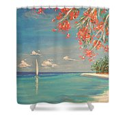 Liberty Shower Curtain by The Beach  Dreamer