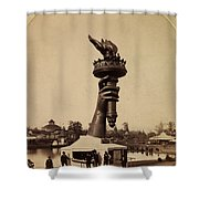 Liberty Torch At Philadelphia For Us Centennial 1876 Shower Curtain
