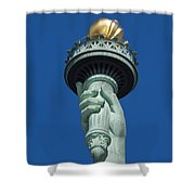 Liberty Torch Shower Curtain