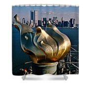 Liberty's Flame Shower Curtain by Benjamin Yeager