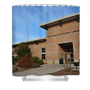 Library In Clare Michigan Shower Curtain