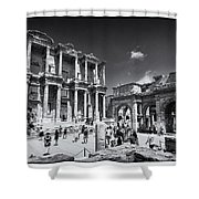 Library Of Celsus - Ephesus Shower Curtain