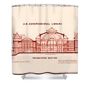 Library Of Congress Design 1877 Shower Curtain by Mountain Dreams