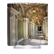 Library Of Congress Hallway Washington Dc Shower Curtain