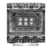 Library Of Congress Main Hall Ceiling Bw Shower Curtain