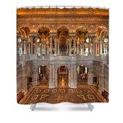 Library Of Congress Shower Curtain by Steve Gadomski