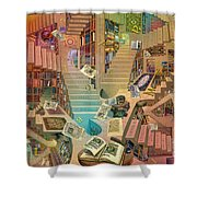 Library Of The Mind Shower Curtain