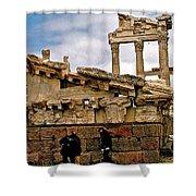 Library On The Pergamum Acropolis-turkey Shower Curtain