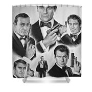 Licenced To Kill  Bw Shower Curtain