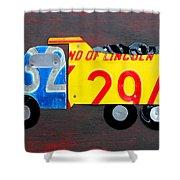License Plate Art Dump Truck Shower Curtain