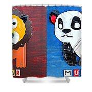 License Plate Art Jungle Animals Series 1 Shower Curtain