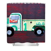 License Plate Art Pickup Truck Shower Curtain