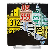 License Plate Map Of Australia Shower Curtain