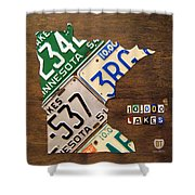 License Plate Map Of Minnesota By Design Turnpike Shower Curtain