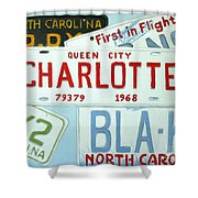 License Plates Shower Curtain by Stacy C Bottoms