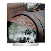 License Tag Eyebrow Headlight Cover  Shower Curtain by Wilma  Birdwell