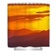 Lickstone Gap Sunset 5 Shower Curtain