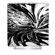 Licorice In Abstract Shower Curtain