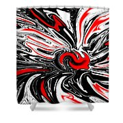 Licorice With Red Cherry Shower Curtain