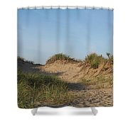 Lieutenant Island Dunes Shower Curtain