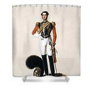 Lieutenant Thomas Myddleton Biddulph Shower Curtain by Alexandre-Jean Dubois Drahonet