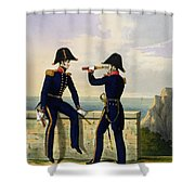 Lieutenants, Plate 1 From Costume Shower Curtain