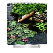 Life At The Lily Pond Shower Curtain