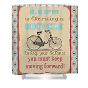 Life-bicycle Shower Curtain