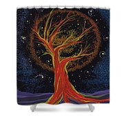 Life Blood Tree By Jrr Shower Curtain