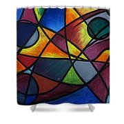 Life Colors Shower Curtain