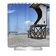 Life Guard Station Shower Curtain