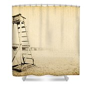Life Guard Tower Shower Curtain