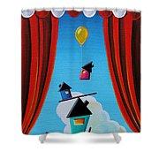 Life In Balance Shower Curtain
