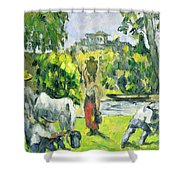 Life In The Fields Shower Curtain