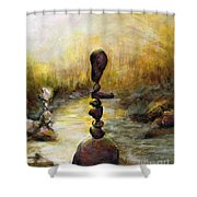 Life Is A Balancing Act Shower Curtain