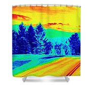 Life Is A Highway Shower Curtain