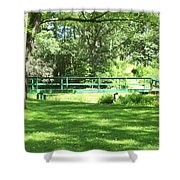 Life Is  Green  Shower Curtain