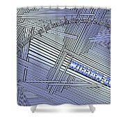 Life Is Material Shower Curtain