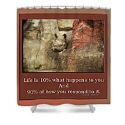 Life Is Moments Of Camouflage Shower Curtain