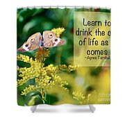 Life Lesson - As It Comes Shower Curtain