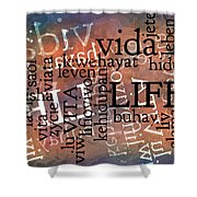 Life Letters Two Shower Curtain