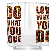 Life Love Acrylic Palette Knife  Shower Curtain
