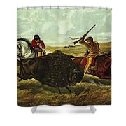 Life On The Prairie Shower Curtain by Currier and Ives