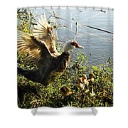 Life On The Water With Mom  Shower Curtain