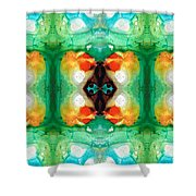 Life Patterns 1 - Abstract Art By Sharon Cummings Shower Curtain