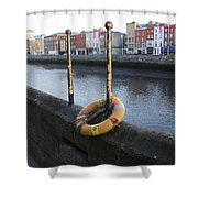 Life Saver -  Swiffey River - Dublin Ireland Shower Curtain