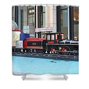 Life Size Toy Train Set In Nyc Shower Curtain