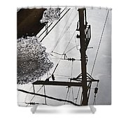 Life Through Puddles Shower Curtain